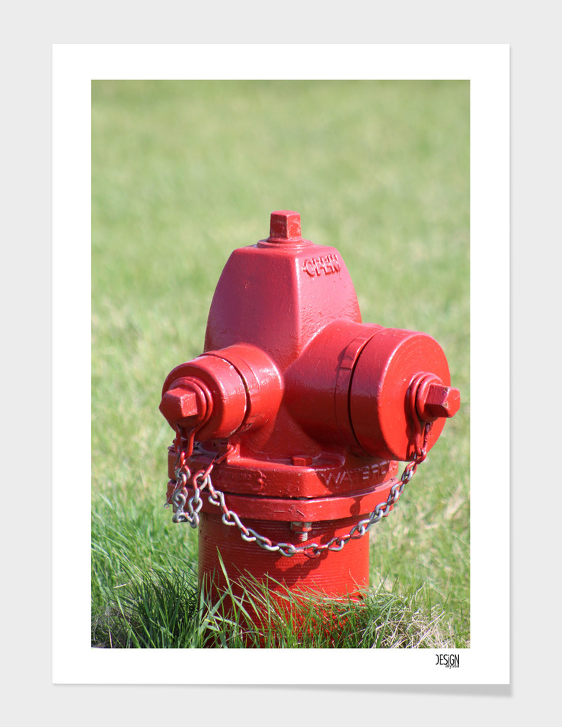 Red Fire Hydrant - Digital Photograph