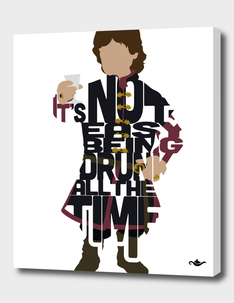 Typography of Tyrion Lannister from The Game of Thrones