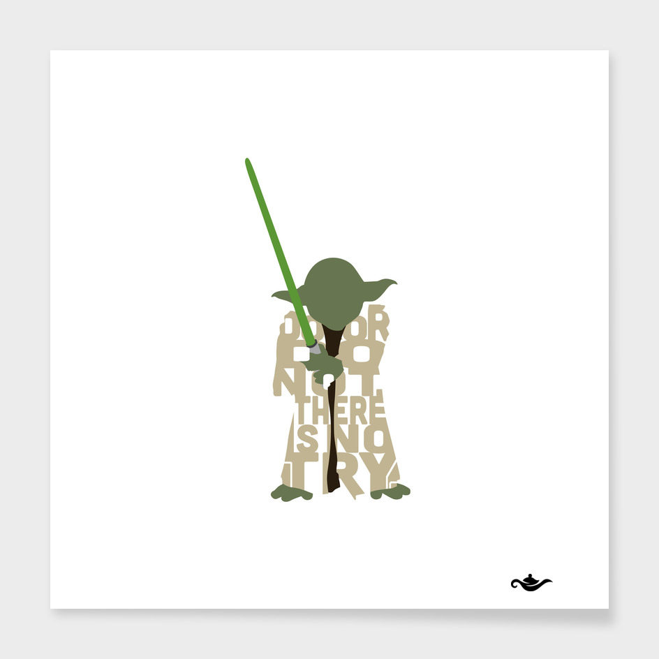 Typography of Yoda from Star  Wars