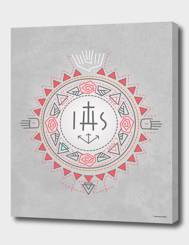 Religious symbols composition