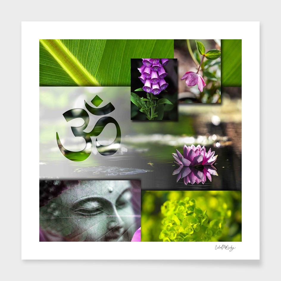 Buddha & Chakra Zen Collage