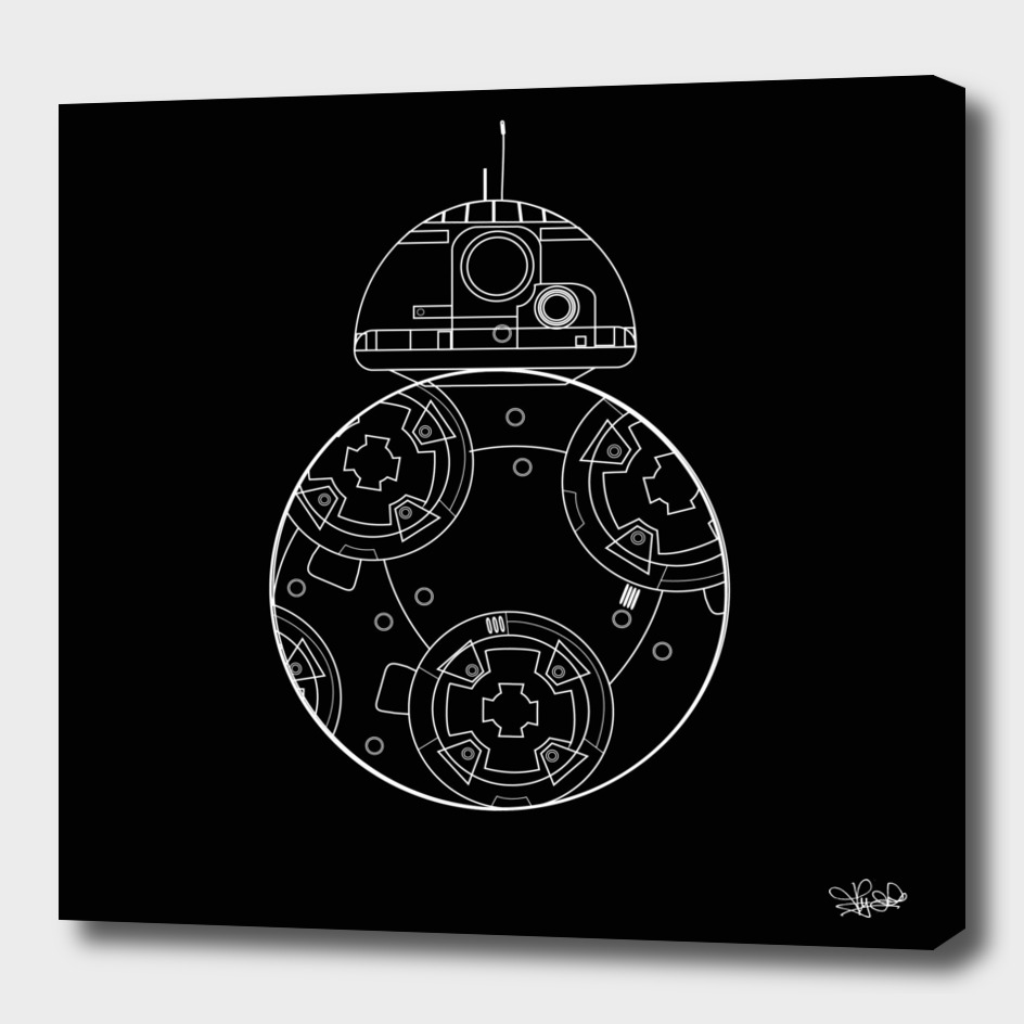 BB8 black and white