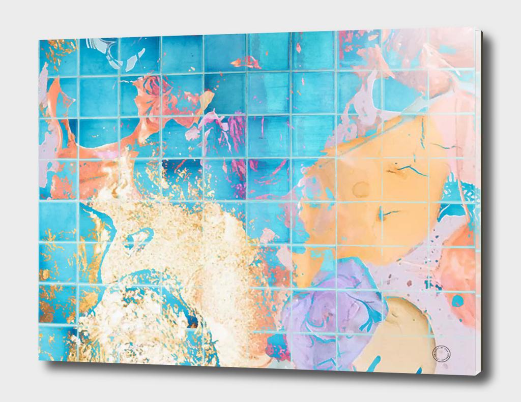 Mosaic Paint Spill