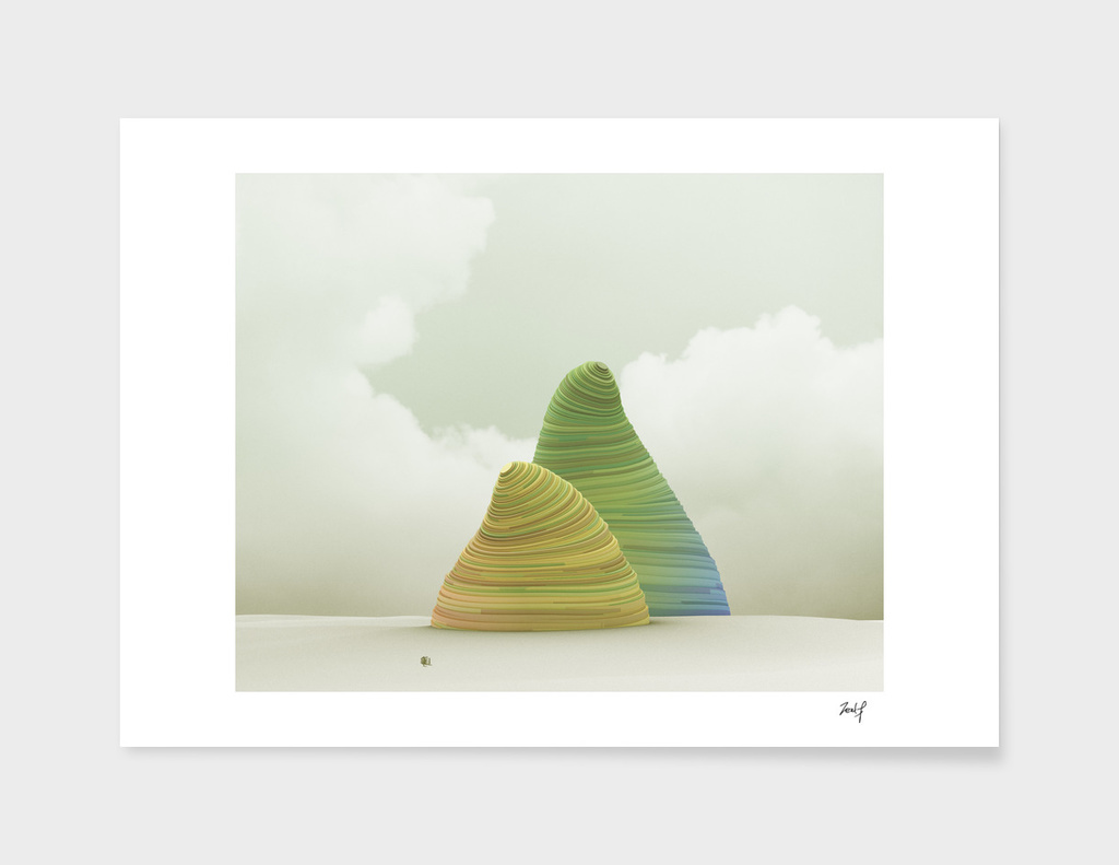 Placed mountain 009