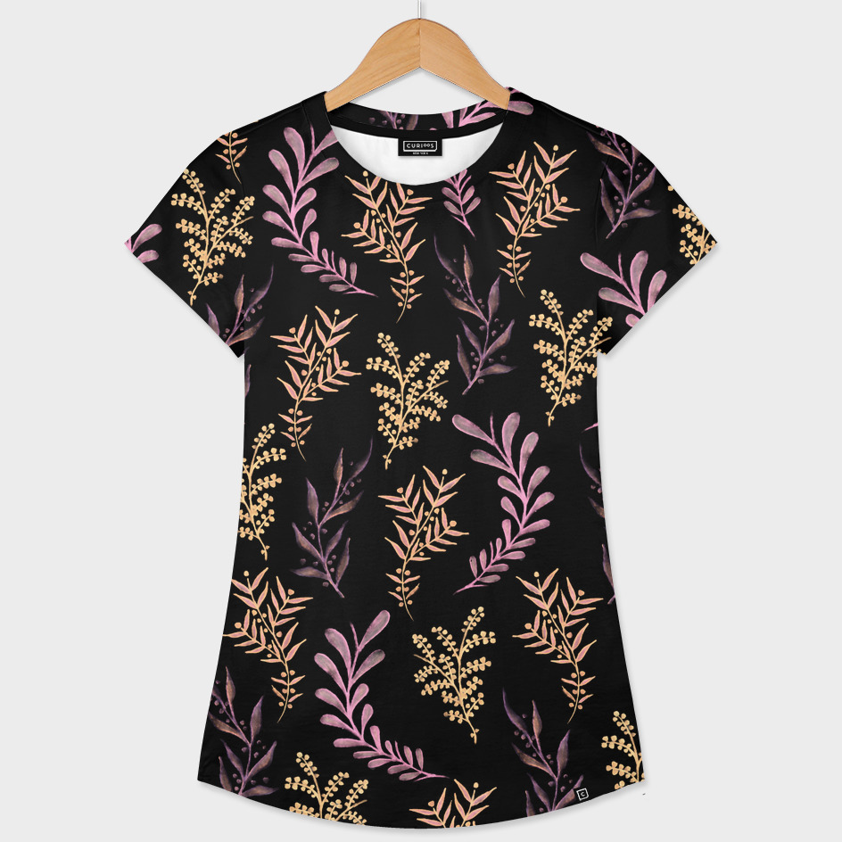 Bronze and Black Floral Pattern