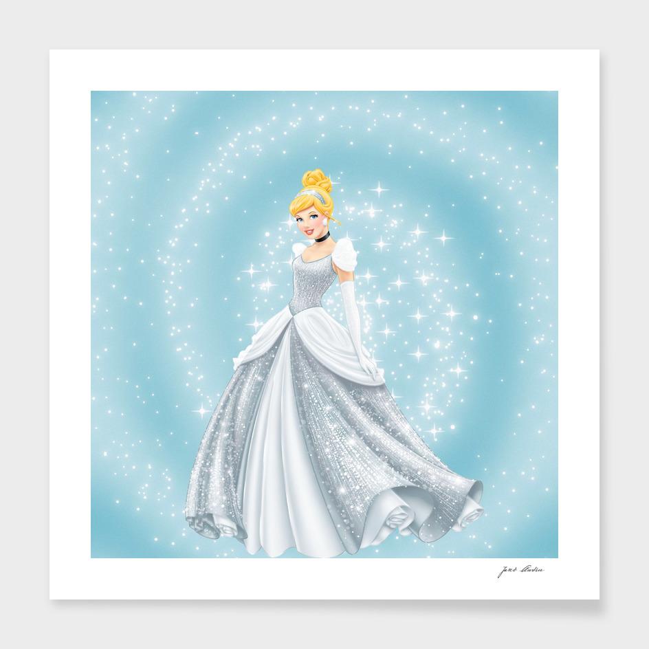 Disney Glitter  Beautiful Princess Cinderella