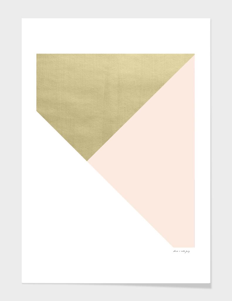 Gold meets Blush & White Geometric #1 #minimal #decor #art