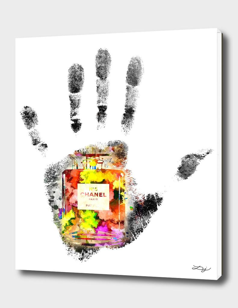 Handprint Chanel No. 5