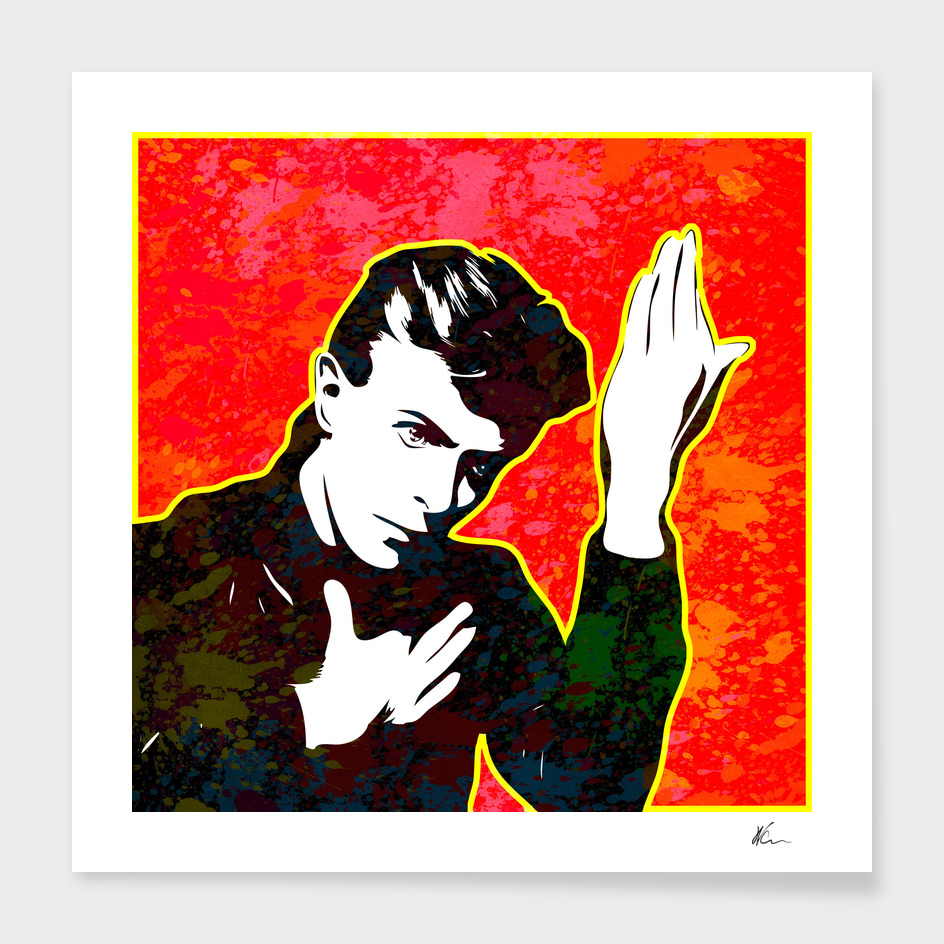 David Bowie | Splatter Series | Pop Art