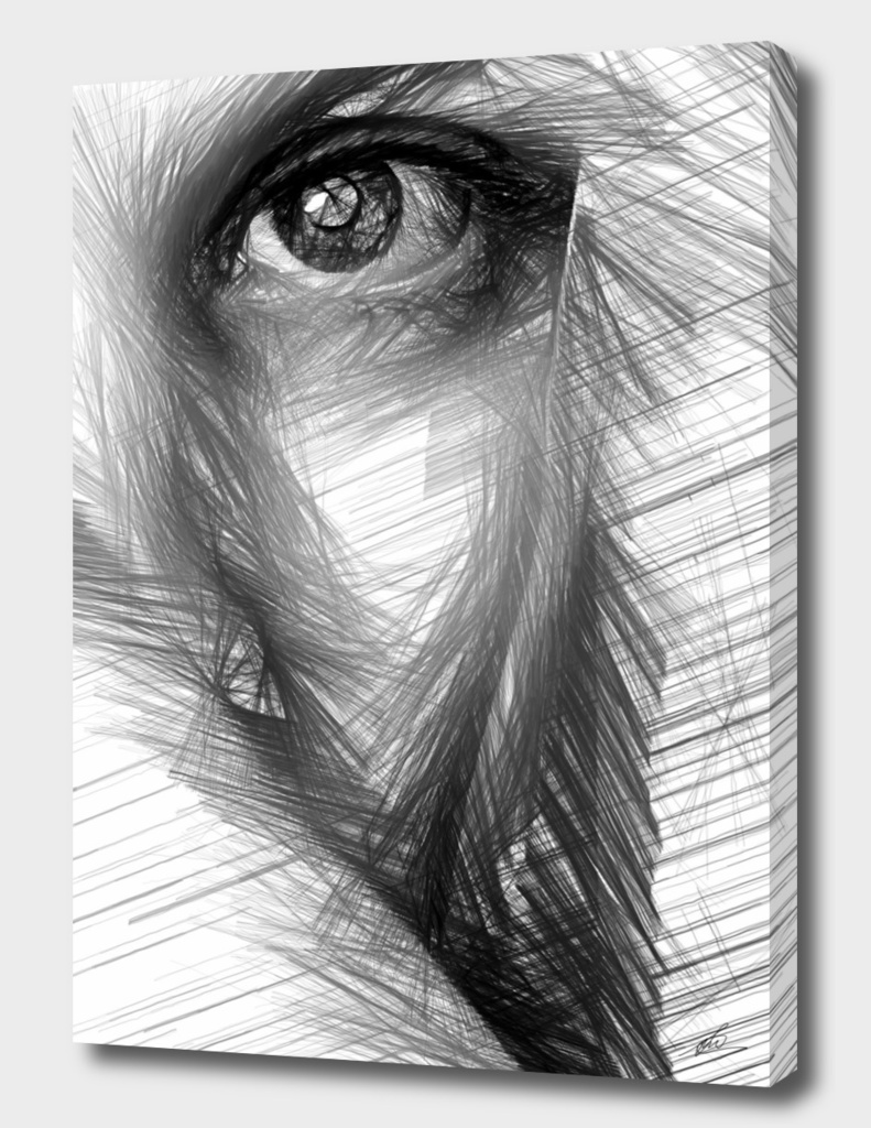 Female Sketch in Black and White 215