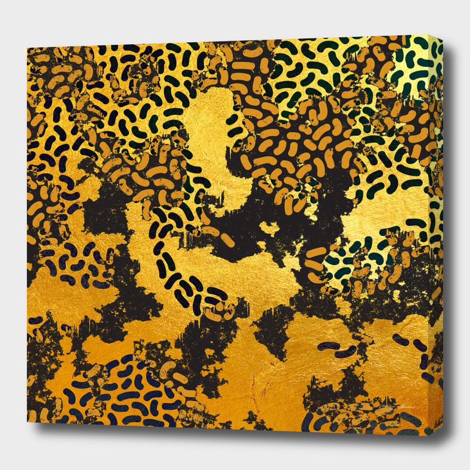 Safary Golden Dreams - Abstract Animal Print