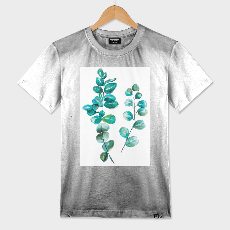 eucalyptus leaves watercolour