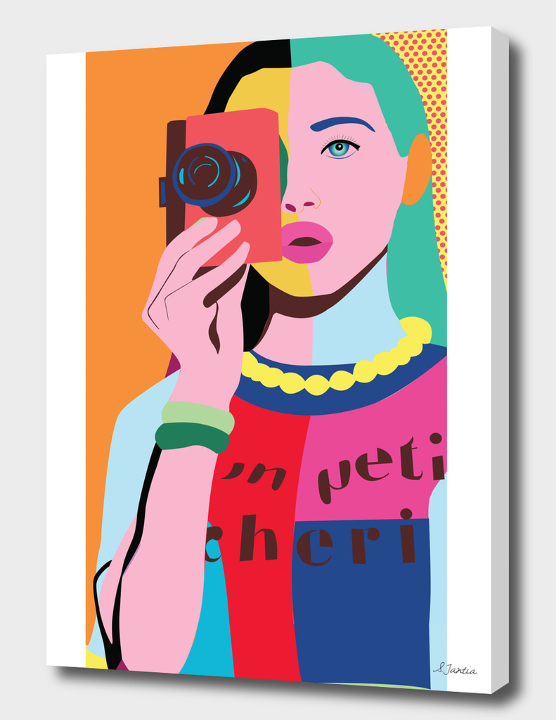 Pop Art girl with Camera