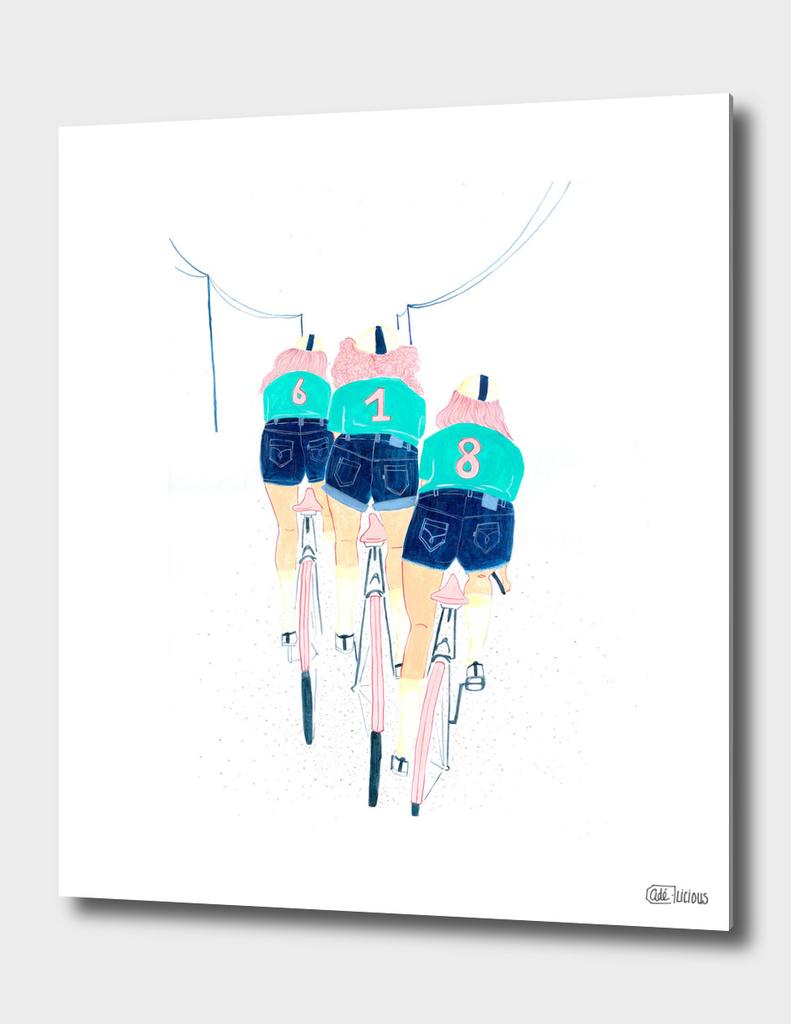 3 girls on a bike
