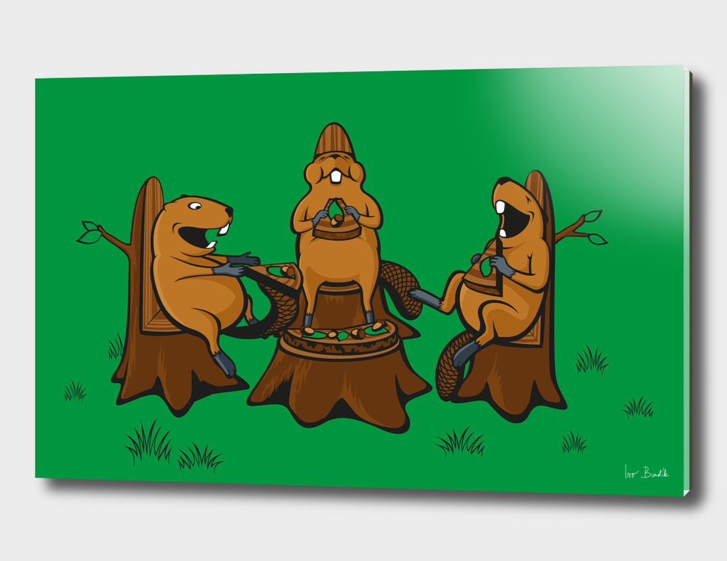 Beaver pizza party