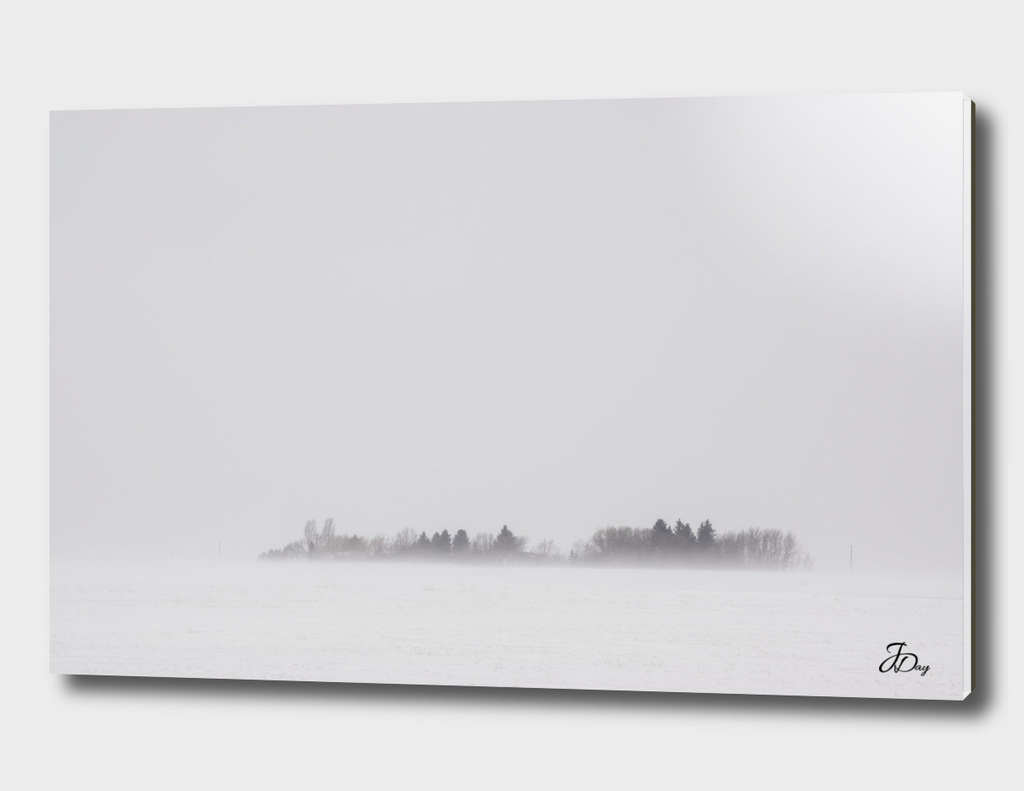 Alberta Farmyard in Blizzard...