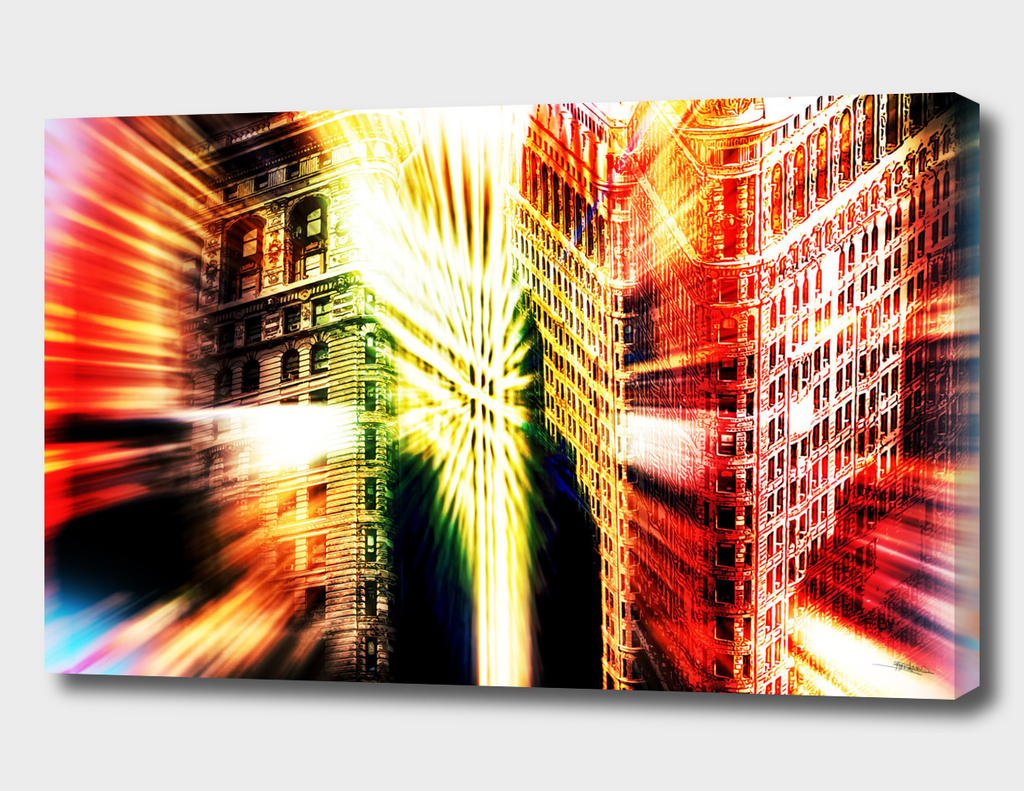 Abstract Flatiron Building NYC