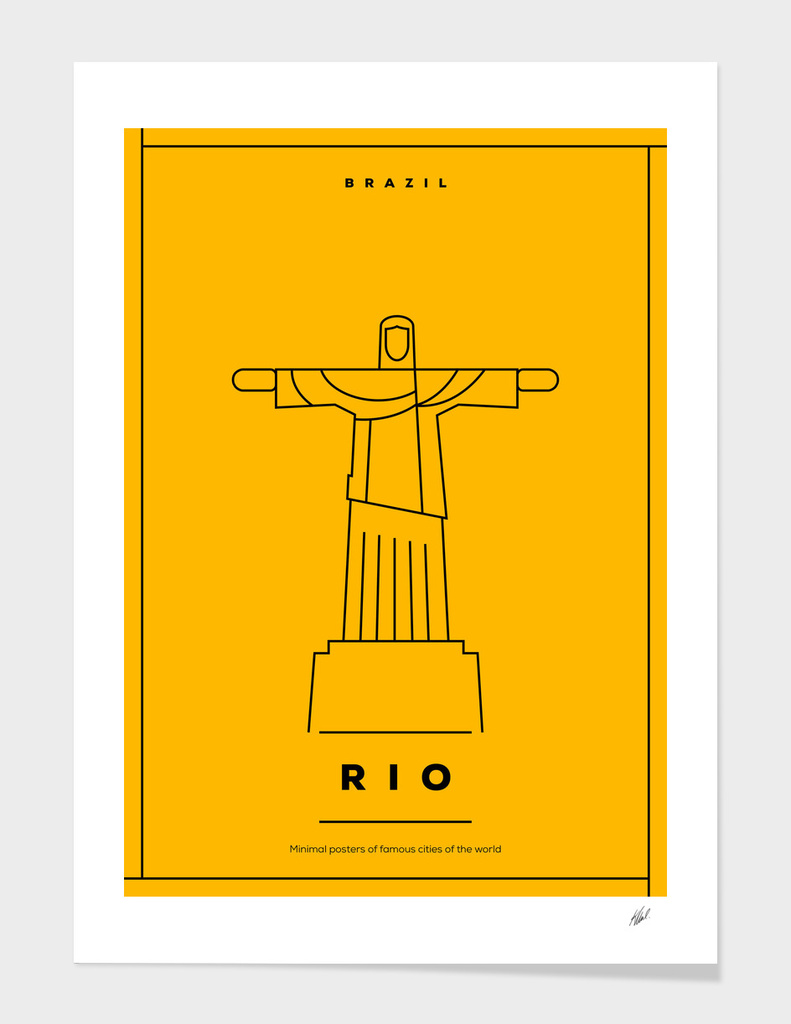 Rio de Janeiro Minimal Poster