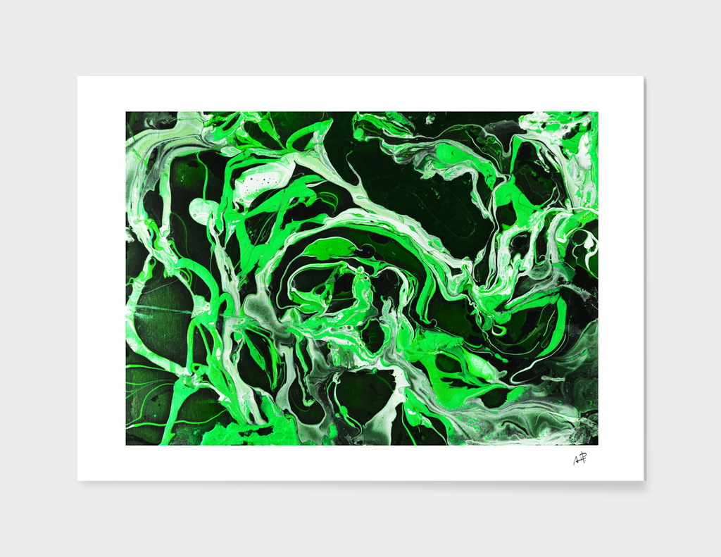 Original Marble Texture - Lime Green