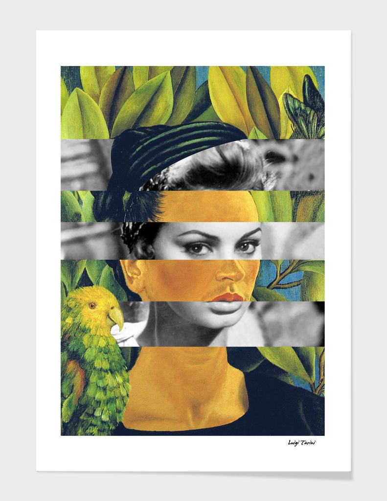 Frida Kahlo Self Portrait with Bonito & Sophia Loren