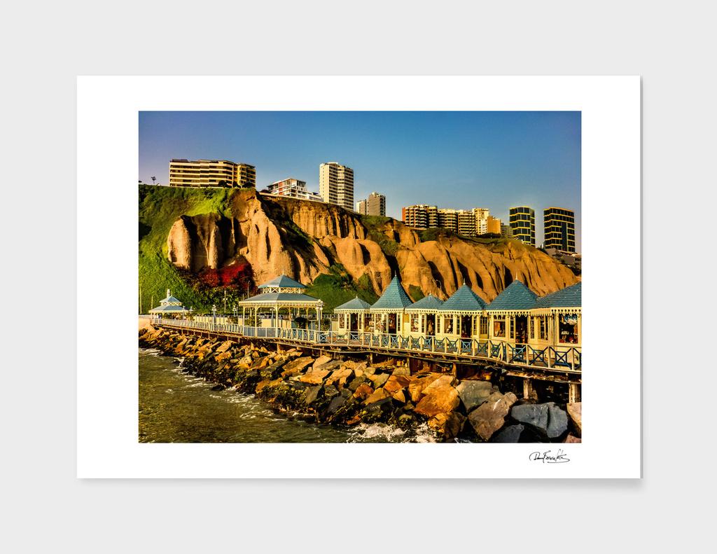 Lima Peru Coastal Scene Photo
