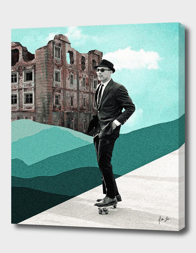 Classy Skater Print