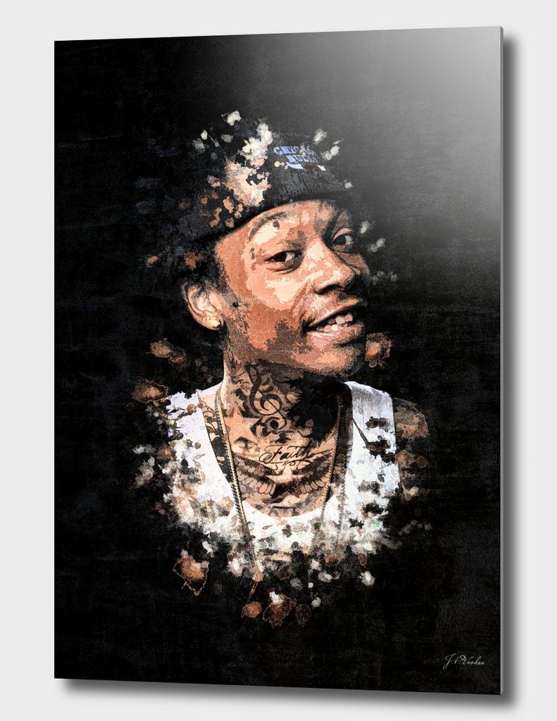 Wiz Khalifa Splatter Painting