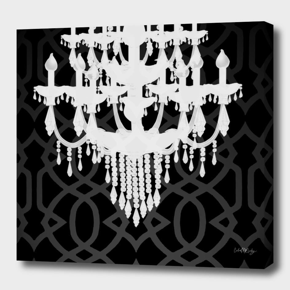 Chandelier Silhouette & Imperial Trellis