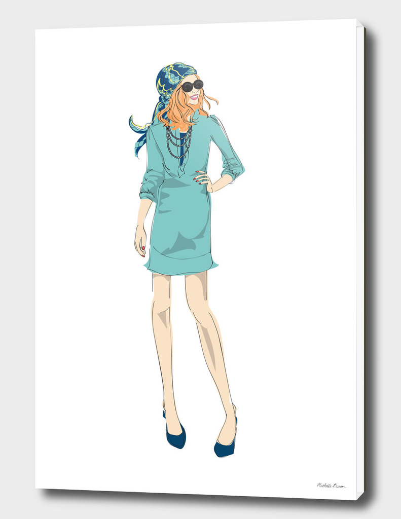 Boho Style Fashion Illustration