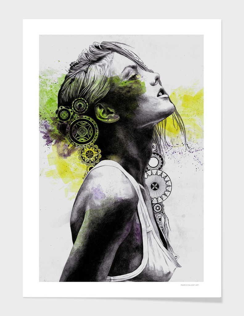 Burnt By The Sun (street art woman portrait with mandalas)