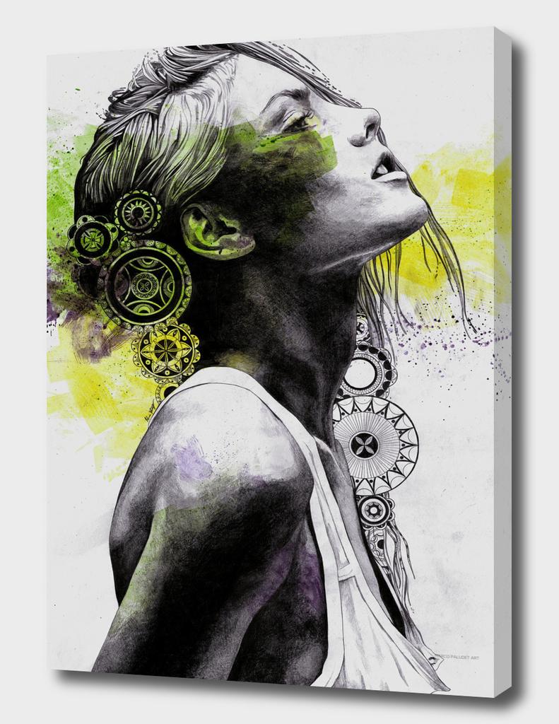 Burnt By The Sun (street art woman portrait with mandalas)