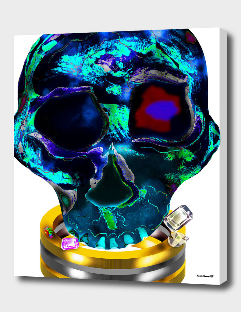 Skull Diamonds Silver Gold by Rami Benatar