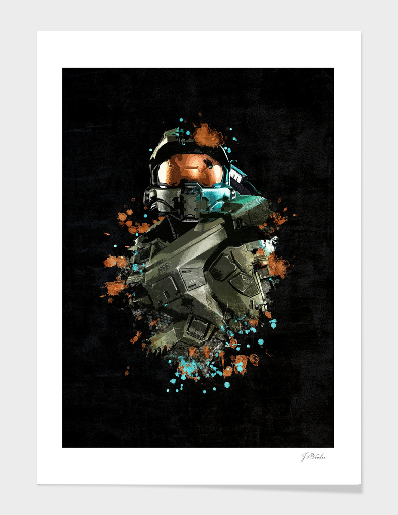 Halo Soldier Splatter Painting