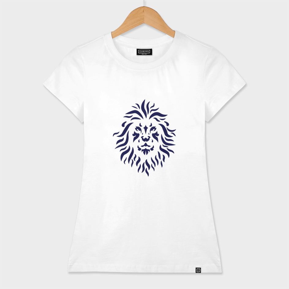 Blue lion lineart
