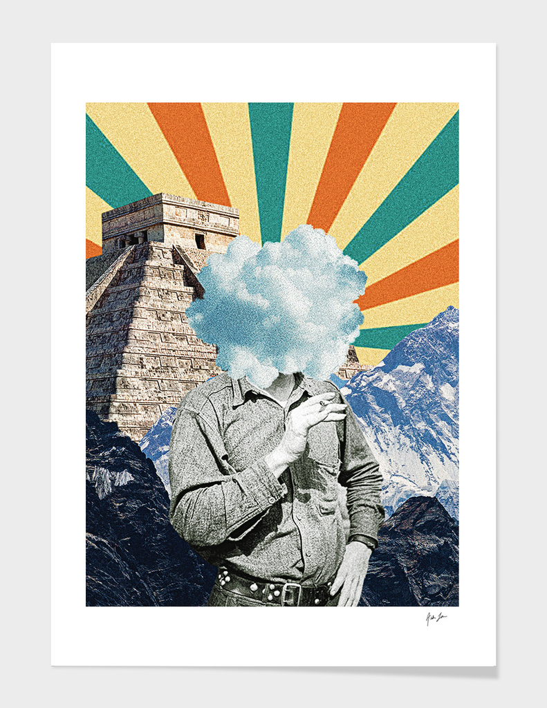 Pyramids In The Mountains Print