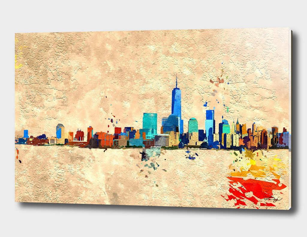 NYC Skyline Grunge