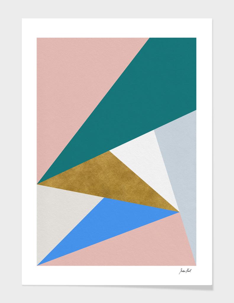 Triangle midcentury modern print
