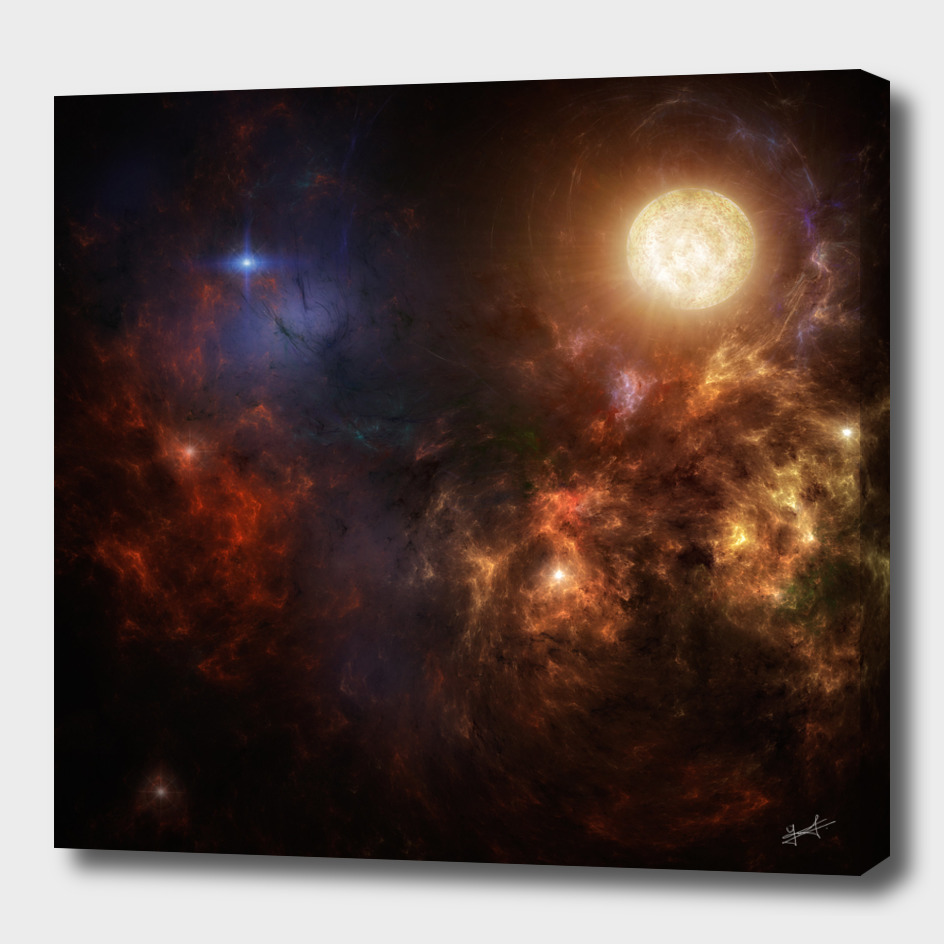 Sun and nebula