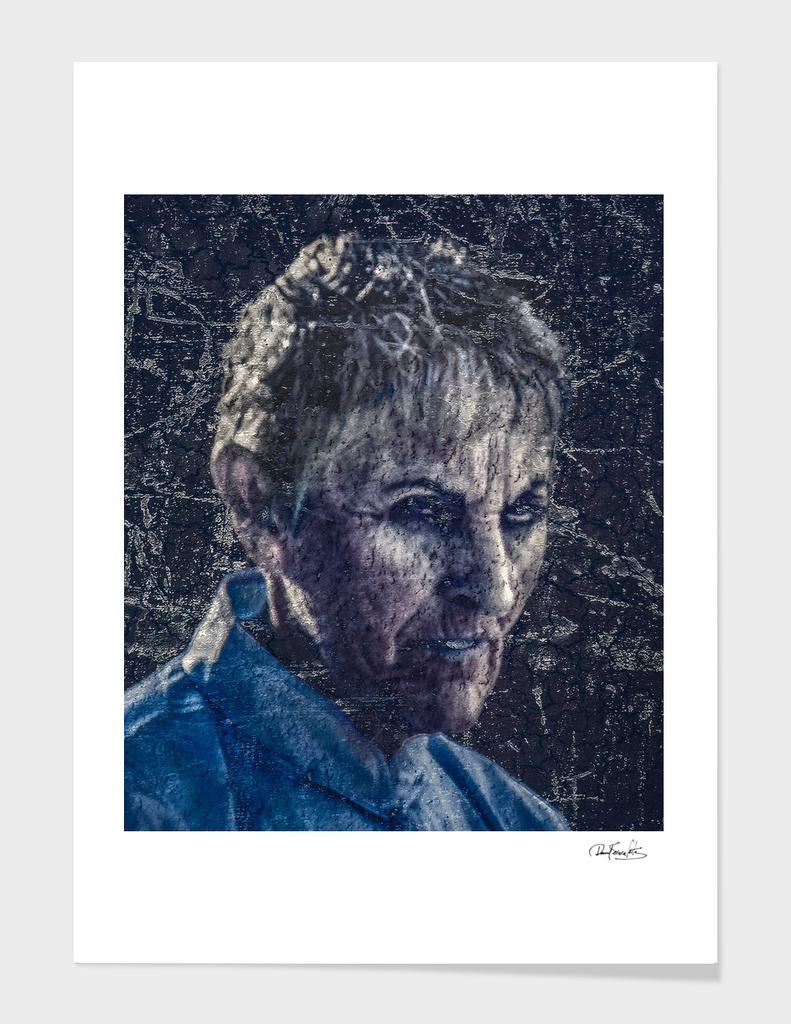 Senior Zombie Portrait - Photo Manipulation Art