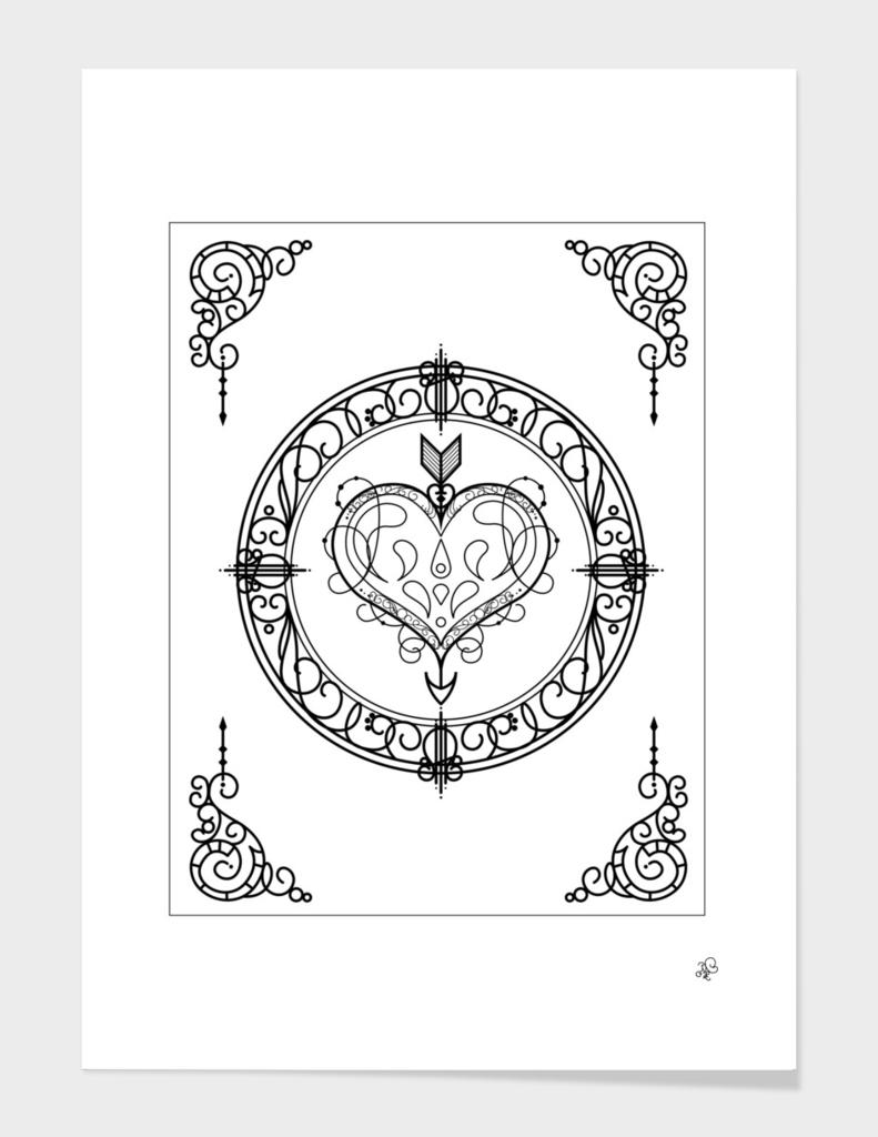 Ornamental Heart & Arrow