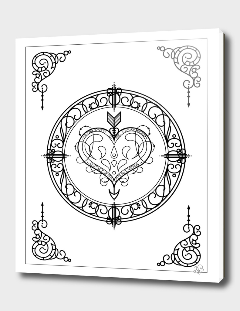 Ornamental Heart & Arrow