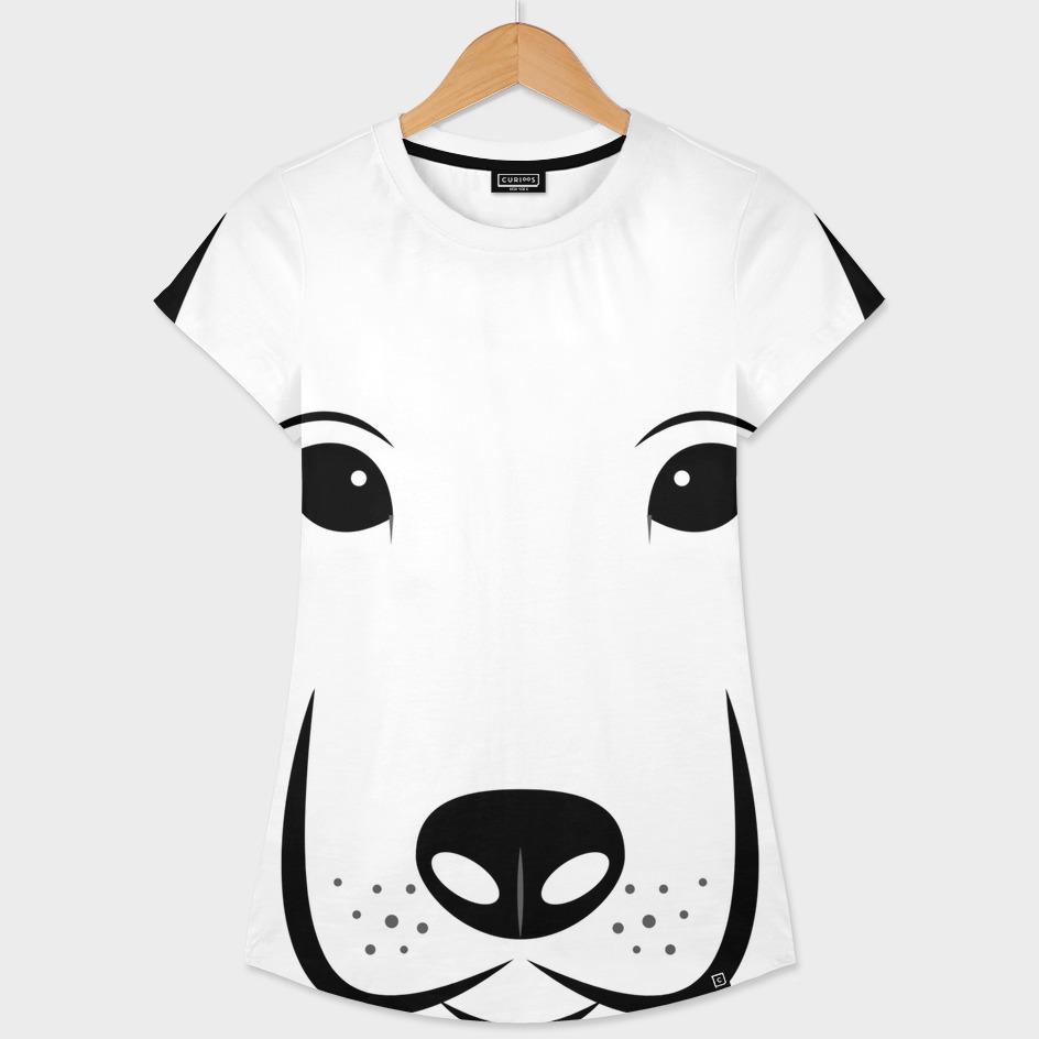 Dog head white background labrador