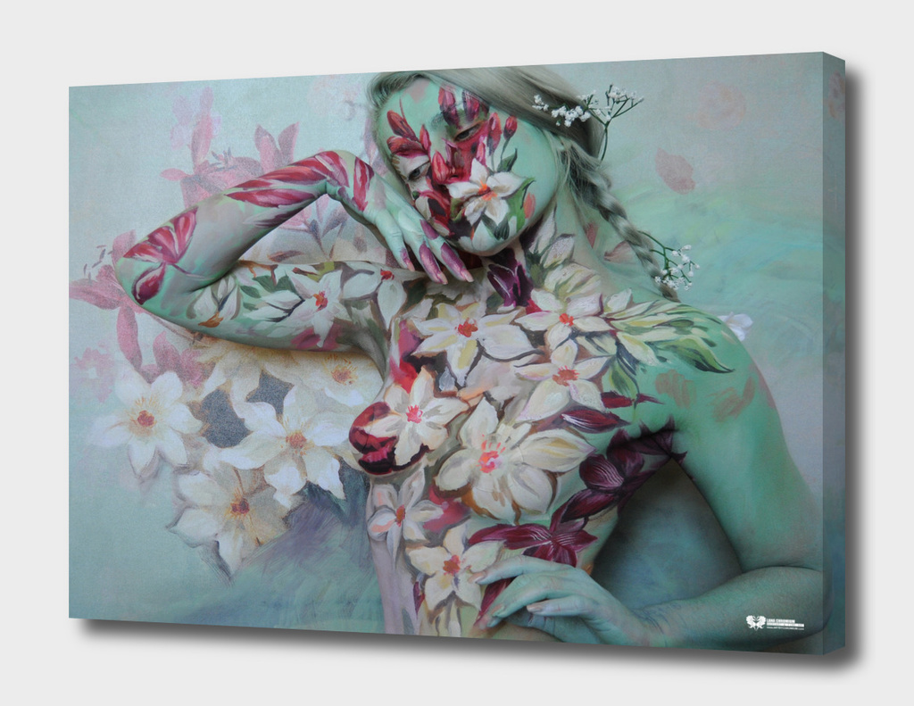 """FLOWERS"" bodypainting art by Lana Chromium - Wall art"