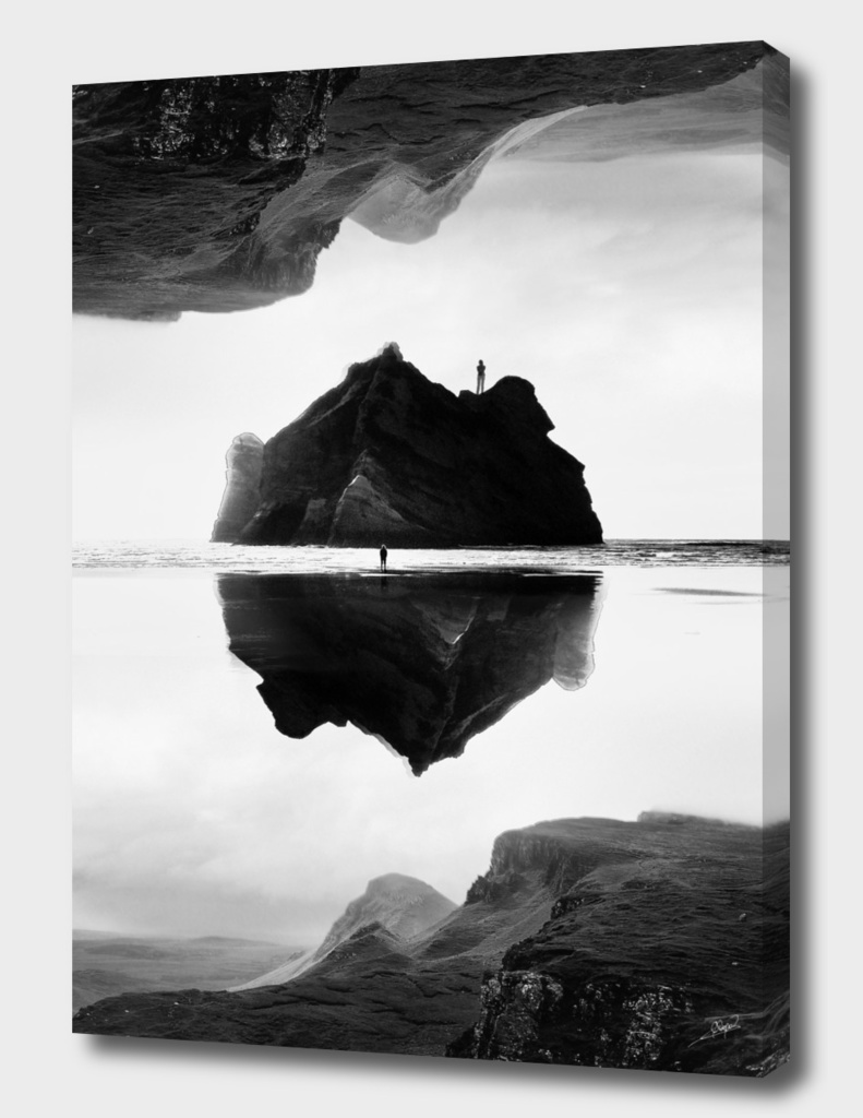Black and White Isolation Island