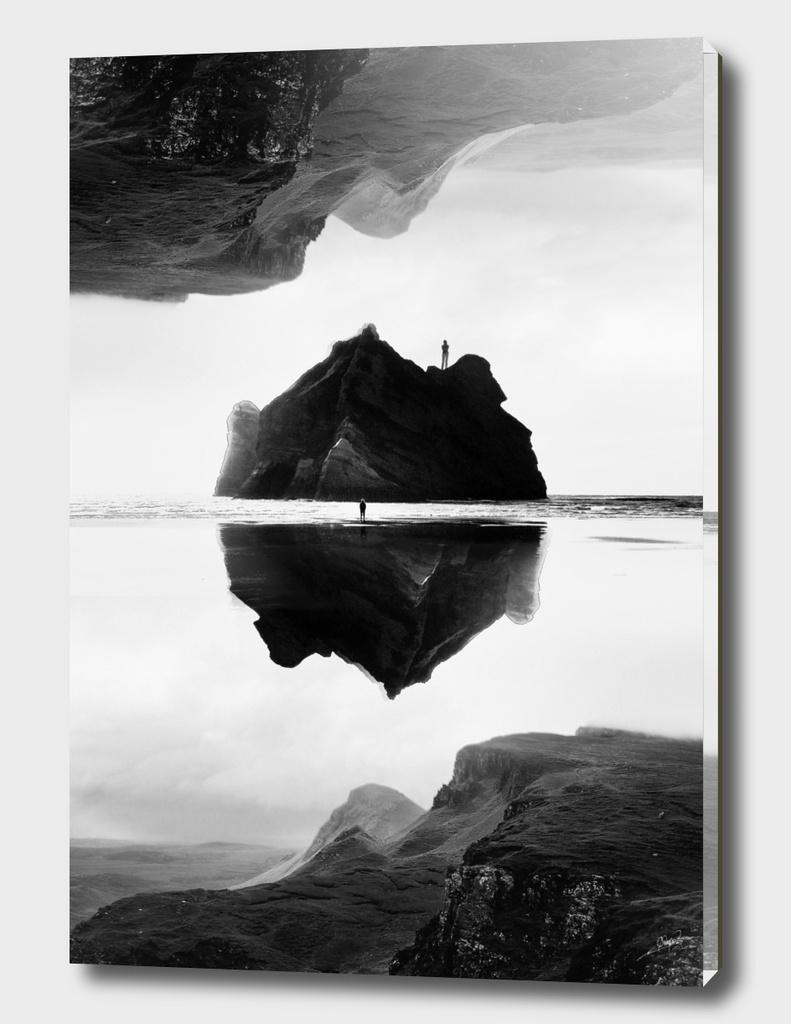 Black and White Isolation Island