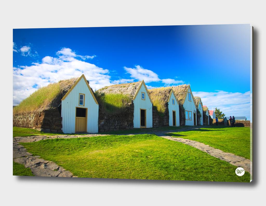 Traditional icelandic farmhouse