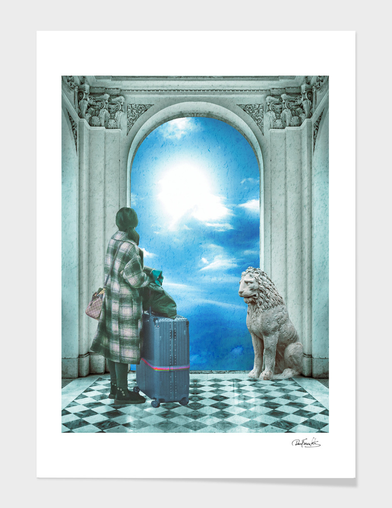 Digital Art Collage Fantasy Scene