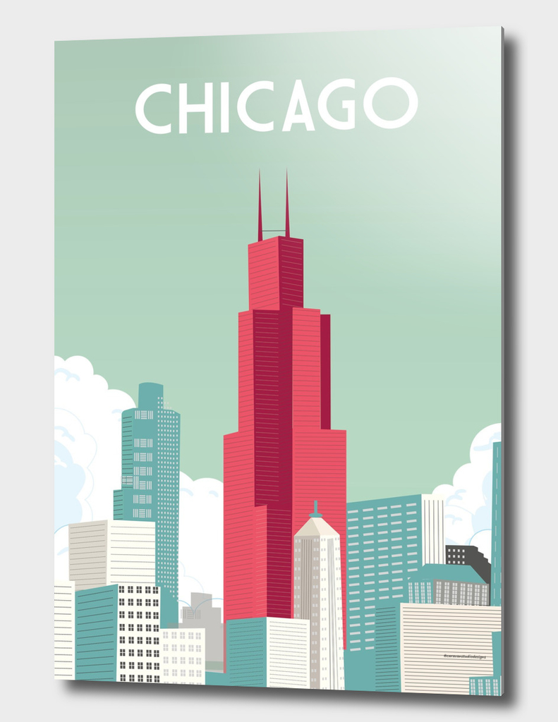Chicago illinois | Vintage Travel Poster |Chicago poster