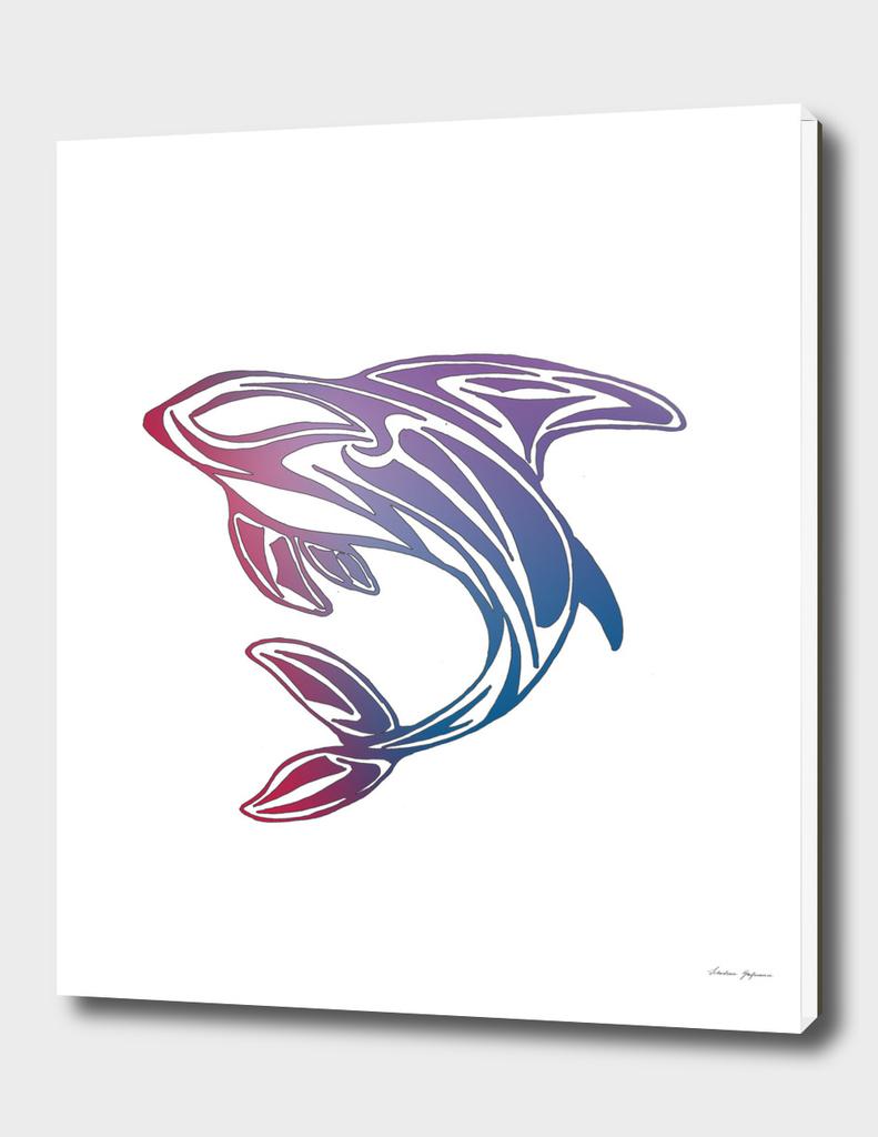 Colorful Orca Tattoo