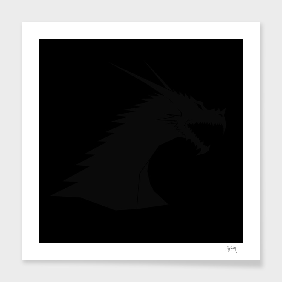 black on black dragon